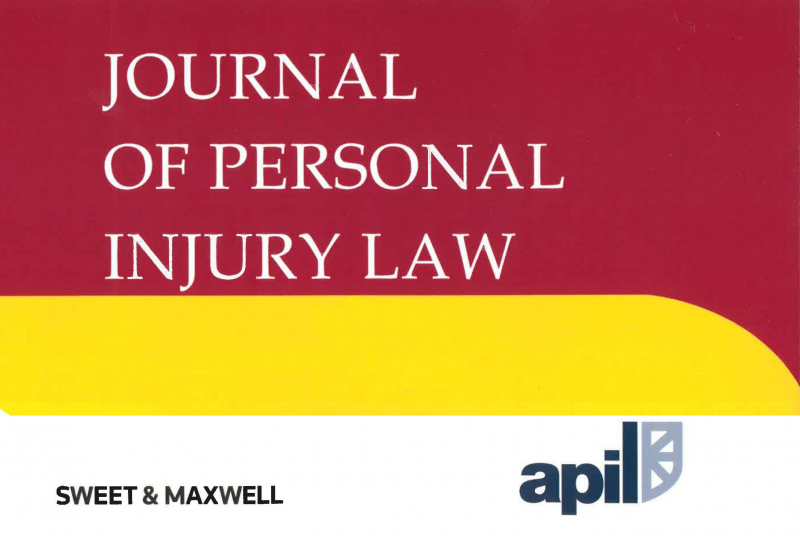 Colaboración De BCV Lex Con El «Journal Of Personal Injury Law»