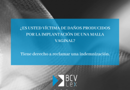 Implante De Mallas Vaginales – Comunicado